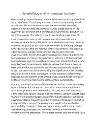 essay about environmentessay of environment sample essay on environmental activism sample essay on environmental activism human beings depend