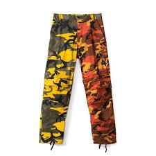 Tri Color <b>Camo</b> Patchwork Cargo Pants Hip Hop <b>Casual</b> ...