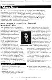 stratis michael r hw assignments st semester 09 rd primary source cromwell oliver cromwell to colonel robert hammond