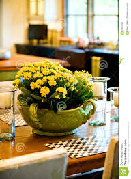 Flower Arrangements For Dining Room Table Fresh Flower Arrangement On The Dining Room Table Royalty Free