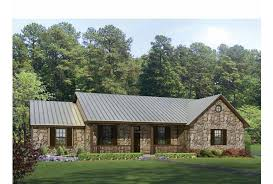 Eplans Ranch House Plan   Texas Hill Country Split Bedroom Plan    Front