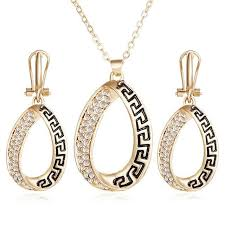 17KM Vintage African <b>Crystal Jewelry</b> Sets for Women Fashion Punk ...