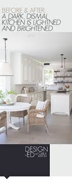 upper kitchen cabinets pbjstories screenbshotb: before amp after a dark dismal kitchen is made light and bright