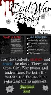 17 best ideas about civil war activities 5th grade let the students analyze and teach the class there are three civil war poems and