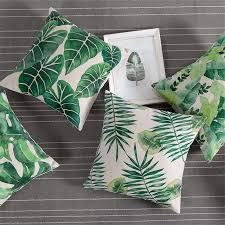 Интернет-магазин Тропический <b>Чехол Подушка</b> Дело зеленый ...