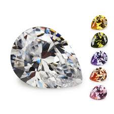Size 2x3~<b>13x18mm Pear</b> Shape White,pink,green,sea Blue.orange ...