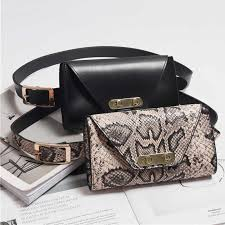 <b>New</b> Waist Bag Women's Fanny Pack Belt Bags Serpentine Pattern ...