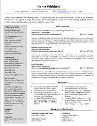 crew supervisor resume example sample construction resumes it crew supervisor resume example sample construction resumes it management resume examples it project manager resume sample format it program manager resume