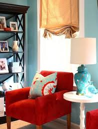 decor red blue room full: great room makeover with red and turquoise throw pillow as accent middot blue and red decorturquoise