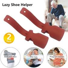 <b>1pc Lazy Shoe Helper</b> Unisex Handled Shoe Horn Easy On & Off ...