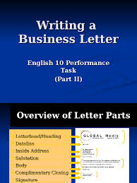 getting help writing a business plan Writing a Business Letter