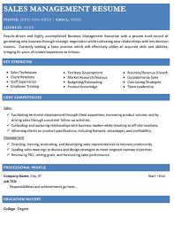 resume samples   types of resume formats  examples and templatessales management