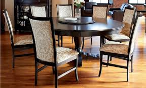 dining sets rounded table  classic dining table and chair consisting of  fabric parsons chairs a