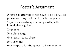 like water for chocolate argumentative essay notes   ppt download fosters argument a heros journey does not have to be a physical journey as long as