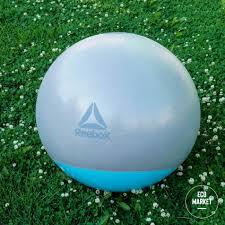 <b>Гимнастический мяч</b> 75 см <b>Reebok</b> серо-голубой RAB-40017BL ...