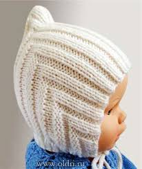Руководство по вязанию детской теплой <b>шапки</b> Размер: 3-12 мес ...