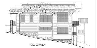 Craftsman Duplex House Plans  Luxury Duplex House PlansHouse rear elevation view for D  Craftsman duplex house plans  Luxury duplex house