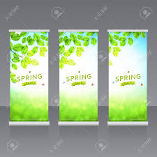 vector roll up banners templates vector template horizontal vector vector roll up banners templates vector template horizontal banner spring advertising