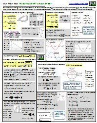 Geometry formulas, Act math and Math test on PinterestTrigonometry formula page for the ACT Math Test (from MathOnTime).