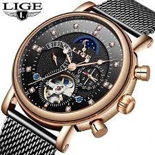 2019 Top Brand <b>LIGE New</b> Fashion Mens <b>Mechanical</b> Watches ...
