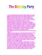 Short essay about my birthday party JFC CZ as
