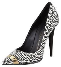 Giuseppe Zanotti <b>Black</b> Gold <b>Crystal Embellished</b> Pointed Toe Party ...