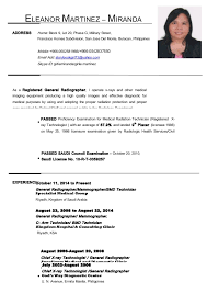 resume examples for x ray technologist radiologic    resume builder resume medical