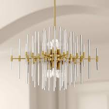 contemporary gold chandelier with led bulbs hand made blown murano glass for sale