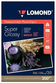 <b>Фотобумага Lomond A6</b> 200g/m2 Super Glossy Bright ...
