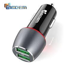 TIEGEM 36W <b>Quick Charge 3.0</b> Dual USB Car <b>Charger Universal</b> ...