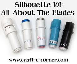 Silhouette 101: All About the Blades — Craft-e-Corner