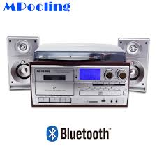MPooling USB Turntable <b>LP Vinyl Record Player</b> Cassette Recorder ...
