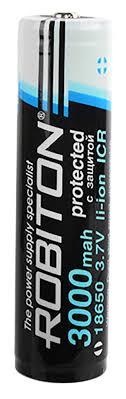 <b>аккумулятор Robiton 18650</b> Li-Ion <b>3000 mAh</b>, защищенный по ...