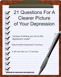 beck depression inventory questions provides a clearer picture only 21 multiple choice questions the bdi is one of the most used tools for determining the severity of depression