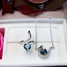 2019 <b>Shilovem 925 Silver Sterling</b> Natural Blue Topaz Pendants ...