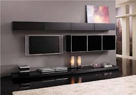 living room astonishing black living room furniture interior design with plain grey wall paint and mounting black cabinet storage home decoration black modern living room furniture