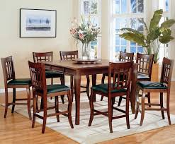 dining room pub style sets: newhouse warm cherry wood pub table set