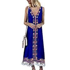<b>Womens</b> Summer <b>Beach</b> Dress Casual <b>Cotton</b> Linen <b>Tassel</b> Hem ...