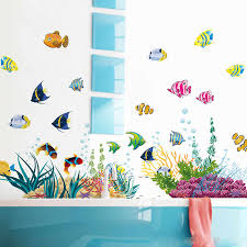 <b>Finding Nemo Under Sea</b> Shark Fish 3D <b>Cartoon</b> Waterproof Wall ...
