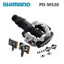 <b>shimano</b> PD M520 <b>Clipless SPD Pedals MTB Bicycle</b> Racing ...