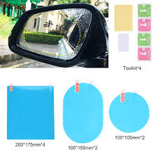 8pcs Car Rectangular <b>Films Rearview Mirror</b> Protective ...