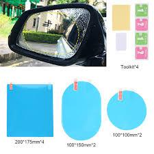 8pcs Car Rectangular <b>Films Rearview</b> Mirror Protective ...