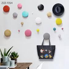 <b>Wall</b> decoration Dot <b>Solid wood Wall</b> hanger <b>Wall</b> hanging Coat rack ...