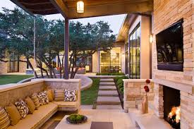Outdoor Living Rooms   Modern House Designs   Page Family Home   Outdoor Living Room and Pool