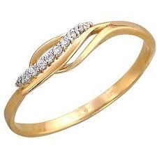 <b>Кольцо с 5 фианитами</b> из красного золота (ж-9438к) - GoldLazer ...
