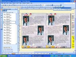 the system creating your school yearbook screen image from microsoft publisher