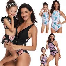 Family Matching <b>Mother Daughter</b> Women Kids Girl <b>Bikini</b> Bathing ...