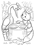 Раскраски по сказке лиса и журавль