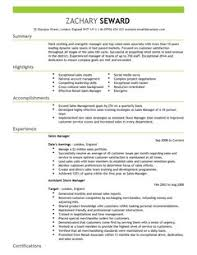sales manager cv example for sales   livecareerall cv    s and cover letters are  able as adobe pdf  ms word doc  rich text  plain text  and web page html formats  click to enlarge image