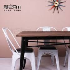 solid wood dining table industrial furniture and solid wood on pinterest american retro style industrial furniture desk